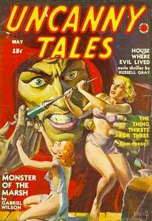 Martin Goodman (publisher) - The pulp magazine Uncanny Tales (May 1940), bearing Goodman's Red Circle logo