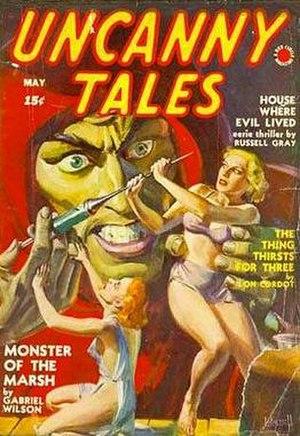Martin Goodman (publisher) - The pulp magazine Uncanny Tales (May 1940), bearing Goodman's Red Circle logo