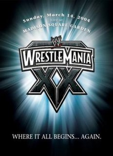 WrestleMania XX 2004 World Wrestling Entertainment pay-per-view event