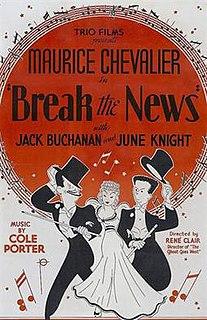 <i>Break the News</i> (film) 1938 film by René Clair