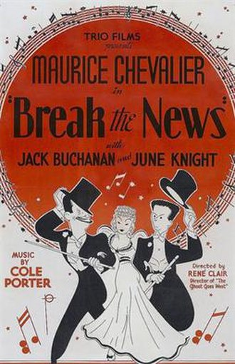 "Break the News (film) - Image: ""Break the News"" (1938)"