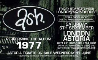 2008 in Irish music - Ash performed their 1977 album in London in September 2008.