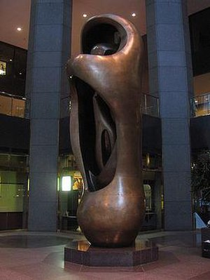 Three First National Plaza - Large Internal-External Upright Form by Henry Moore
