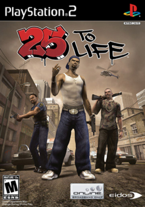 25 to Life - North American PlayStation 2 box art