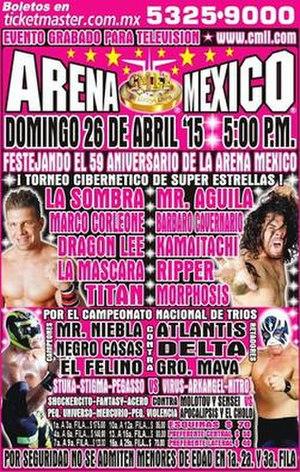 Aniversario de Arena México - Official poster for the show