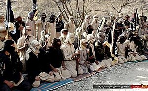 Al-Qaeda in the Arabian Peninsula - AQAP fighters in Yemen.