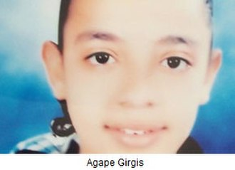 Rape in Egypt - Agape Girgis, 13 year old Egyptian girl, abducted from Nahda, el-Ameriya, near Alexandria, on December 23, 2012