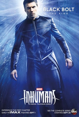 Black Bolt - Character poster of Anson Mount as Black Bolt for the television series, Inhumans.