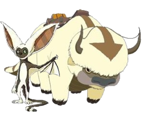 Appa (character) - Appa (right) with Momo