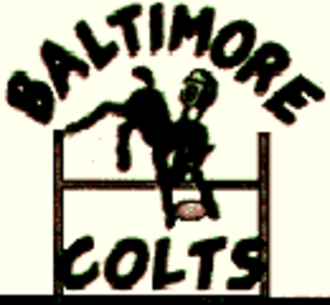 Baltimore Colts (1947–50) - Baltimore Colts AAFC/NFL logo