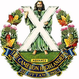 The Cameron Highlanders of Ottawa (Duke of Edinburgh's Own) - Image: Capbadge