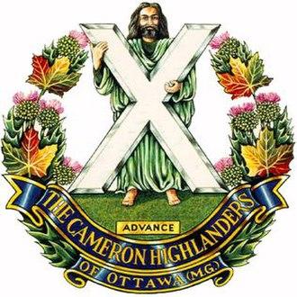 The Cameron Highlanders of Ottawa (Duke of Edinburgh's Own) - Image: Capbadge