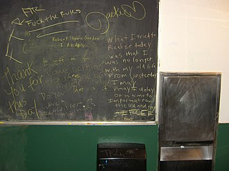 Cody's Books - The restrooms at the Telegraph Avenue store were equipped with blackboards and chalk