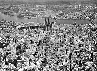 Bombing of Cologne in World War II - Innenstadt, Cologne in 1945