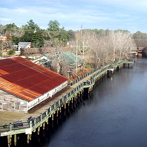 Shot of the marina in Conway, South Carolina