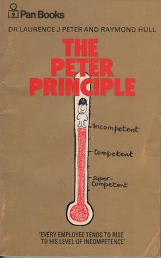 Peter principle - The cover of The Peter Principle (1970 Pan Books edition)