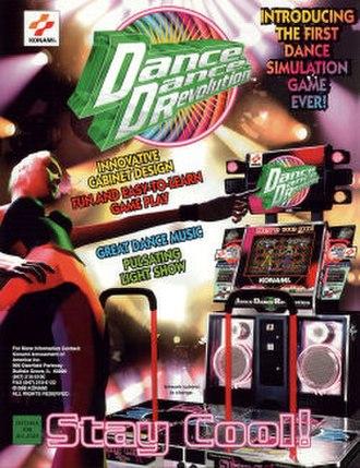Dance Dance Revolution (1998 video game) - American flyer for Dance Dance Revolution