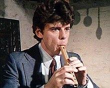 Munrow die in 1976 op een pijp met zes gaten speelde