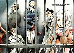 The principal characters of Deadman Wonderland...