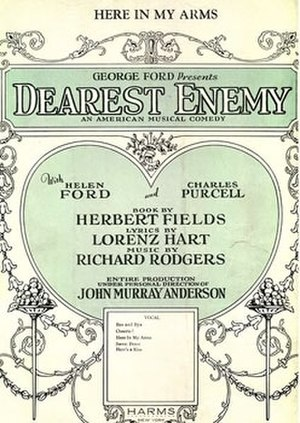 Dearest Enemy - Sheet music cover (cropped)