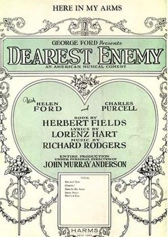 Dearest Enemy - Sheet music cover (cropped)