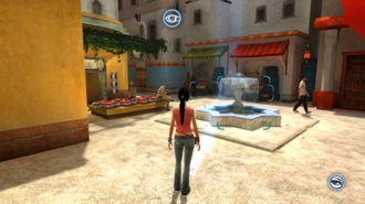 Dreamfall: The Longest Journey - Focus field allows hotspots to be interacted from afar