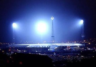 Elland Road - The old floodlights at Elland Road.