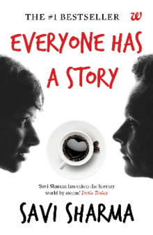 Book Cover Depicting Two Faces One Female Male And A Cup Of