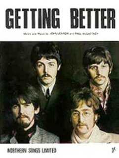 Getting Better original song written and composed by Lennon-McCartney