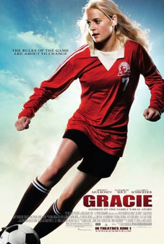 "Gracie (film) - Publicity poster for Gracie. The ad copy reads: ""The rules of the game  are about to change."""