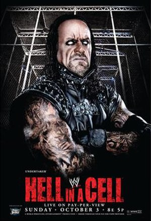 Hell in a Cell (2010) - Promotional poster featuring The Undertaker