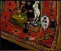 Henri Matisse, 1908, Statuette and Vases on Oriental Carpet (Still Life in Red of Venice), oil on canvas, 89 x 105 cm, Pushkin Museum, Moscow.jpg
