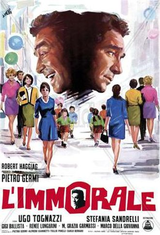 L'immorale - Film poster