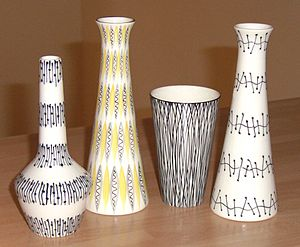 Jessie Tait - Vases and a beaker by Jessie Tait for Midwinter Pottery