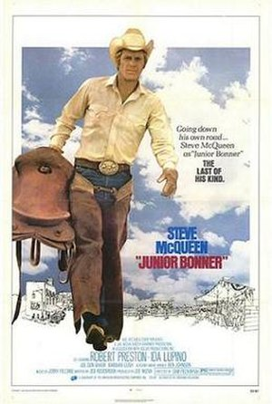 Junior Bonner - A promotional film poster for Junior Bonner.