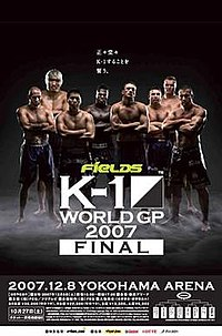 A poster or logo for K-1 World Grand Prix 2007 Final.