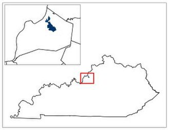 Julie Adams (politician) - A map of District 32 in the Kentucky General Assembly