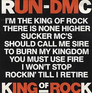 King of Rock (song) - Image: Kingof Rock Single Cover