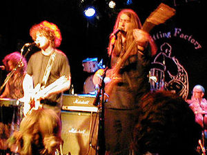 The Loud Family - The Loud Family live at the Knitting Factory, New York, 2000. (L-R: Alison Faith Levy, Scott Miller, Kenny Kessel, Gil Ray)