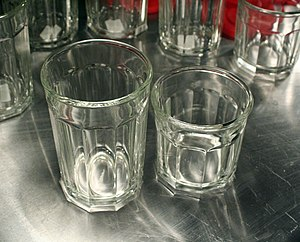 Arc International - 10-sided, thick-walled Luminarc working glasses, long a workhorse of French kitchens