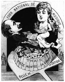 Caricature de pianiste d'âge moyen et jeune chanteuse