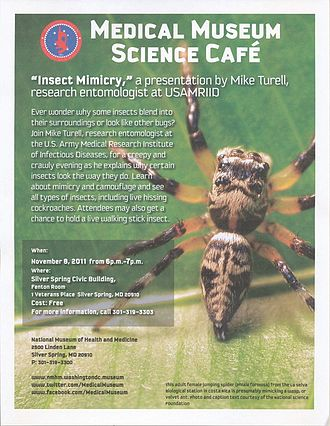 National Museum of Health and Medicine - Flier for October 8, 2011 NMHM Science Café.