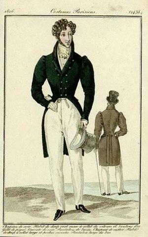 1820s in Western fashion - Men's fashion plate, 1826