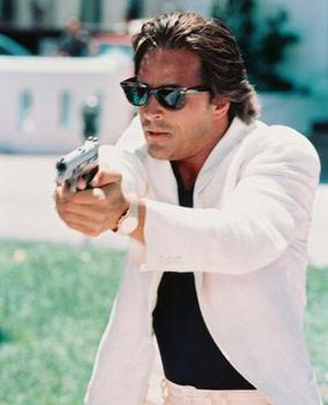 Miami Vice - Don Johnson epitomizing the dress style that became a hallmark of the series.