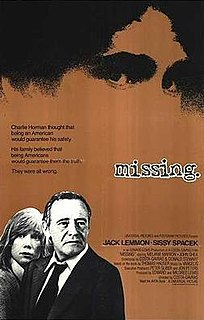 <i>Missing</i> (1982 film) American historical drama film
