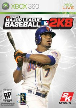 The cover of MLB 2K8 for Xbox 360.