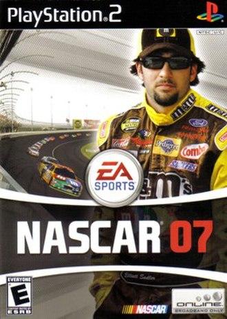 NASCAR 07 - North American cover art featuring Elliott Sadler