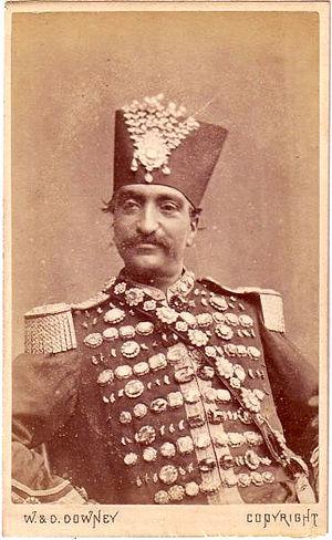 Naser al-Din Shah's slide