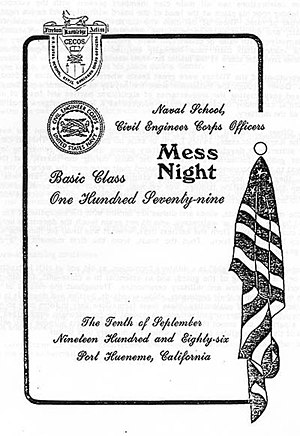 Dining in - U.S. Navy Mess Night Invitation, 1986
