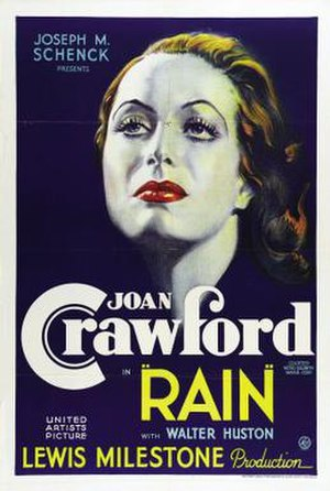 Rain (1932 film) - theatrical film poster